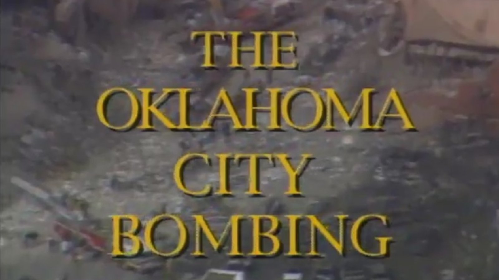 Oklahoma City Bombing - Terrorism in the US