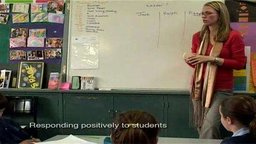 Responding Positively to Students (Classroom Footage)