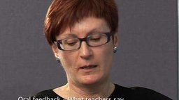 Oral Feedback: What Teachers Say (Secondary)