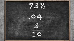 Percents, Decimals, and Fractions