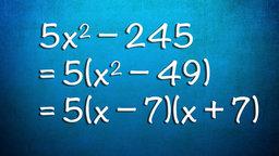 Quadratic Equations - Factoring