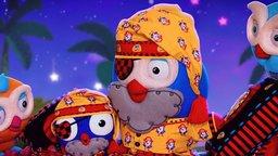 Pirate Mini-Hootbeard Can't Sleep